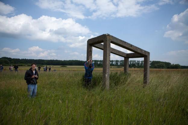 auf dem Gelände des ehemaligen KZ Schandelah