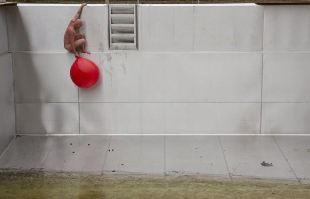 roter ballon mit Mensch